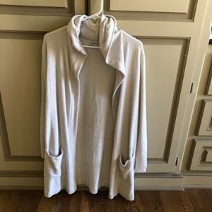 Barefoot dreams cozy chic lite cardigan with hood